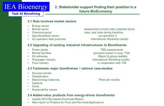 Stakeholder support finding their position in a future BioEconomy