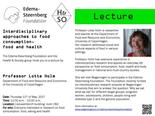 Invitation seminar Lotte Holm